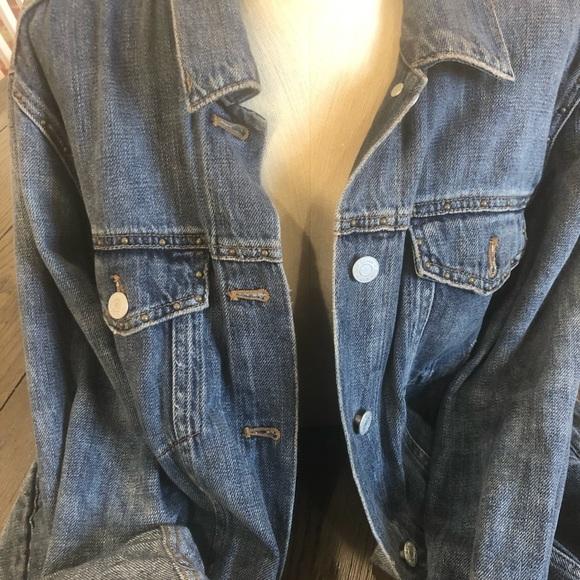 GAP Jackets & Blazers - GAP  oversized DistressedJ Jean Jacket